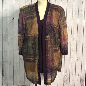 R & M Richards Karen Kwong jacket & mock shirt